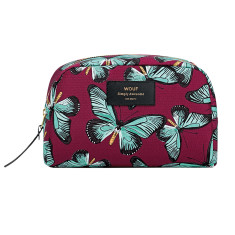 Wouf big beauty bag in butterfly print