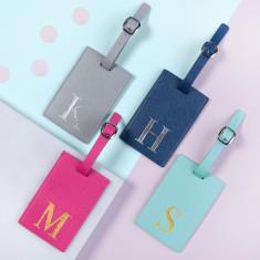 Alphabet Coloured Luggage Tag