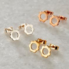 Scalloped Stud Earrings