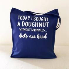 Doughnuts & diets tote bag