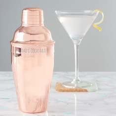 Personalised Copper Cocktail Shaker