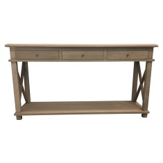 Hamptons oak console