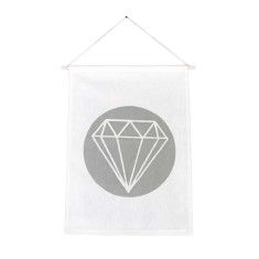 Diamond handmade wall banner