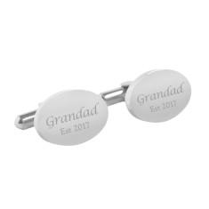 Personalised Grandad est. cufflinks