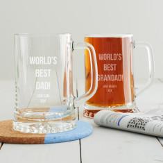 Personalised Best Dad Beer Tankard