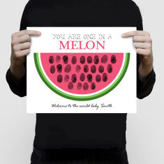 Watermelon personalised fingerprint guest book