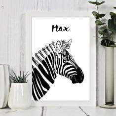 Zebra Personalised Print