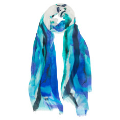 Ocean bloom scarf