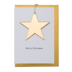 Gold star decoration card