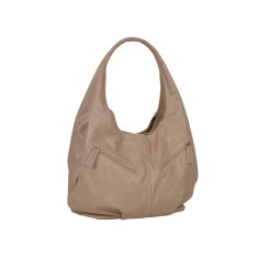 Catalina beige leather shoulder bag