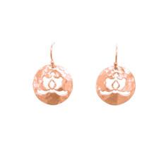 Ottoman disc drop earrings in rose gold plate