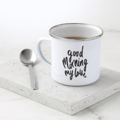 Good Morning My Love Enamel Mug