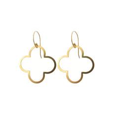 Gold flower statement earrings