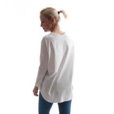 Oversized Raglan Tee in White