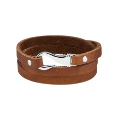 Men's hook bracelet in brown