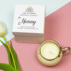Personalised massage candle gift for her