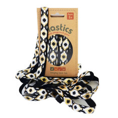 Elastics playground game - Black & Gold Aztec