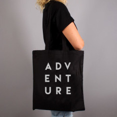 Adventure Typography Tote Bag