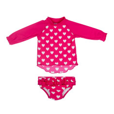 Love Heart  Baby Suntop Set