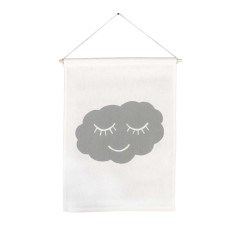 Sleeping cloud handmade wall banner