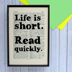 Read quickly book lover gift print