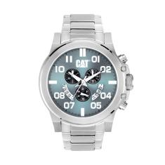 CAT Chicago Chrono series watch in steel & blue plus free gift