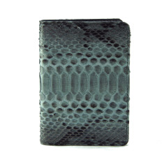 Grey motif python and napa passport cover