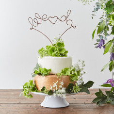 We Do Wire Wedding Cake Topper
