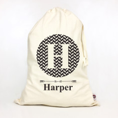 Kids' personalised monogram storage sack (various colours)