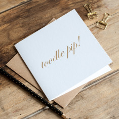 Toodle Pip, Gold Foil Card