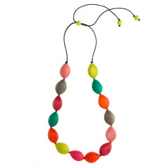 Paradiso long pod party necklace