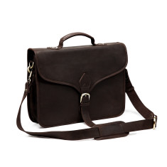 TheCompanion Thin Briefcase in Dark Brown - 16