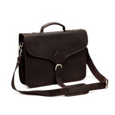 TheCompanion Thin Briefcase in Dark Brown - 16