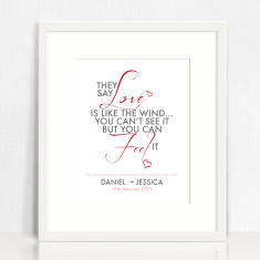 Love is like the wind print