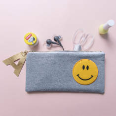 Smiley Face Pencil Case Zip Pouch