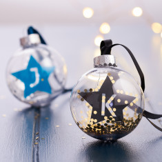 Personalised Star Initial Bauble