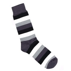 Loco grey stripe socks