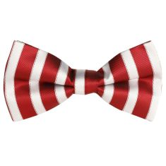 Candy, red & white bow tie