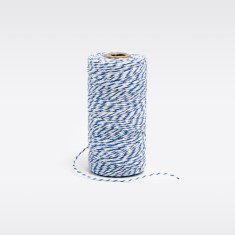 Ocean blue & white bakers twine