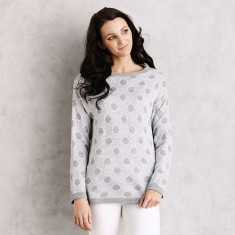 Genevieve Sweater in Spotted Grey