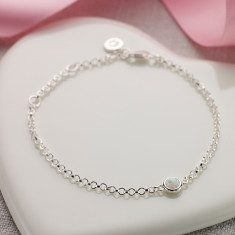 October birthstone bracelet in opal