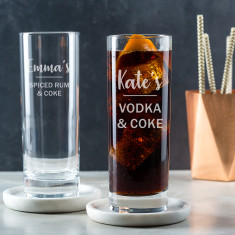 Engraved Highball Glass - Personalised Mixer Glass