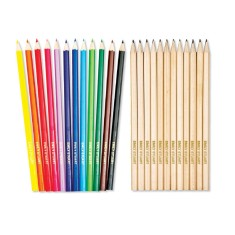 Personalised pencils (pack of 12 mixed lead and colour)