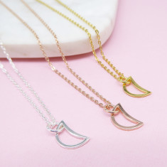 Crescent Moon Necklace (various colours)