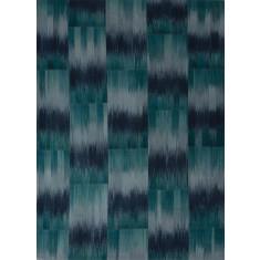Turquoise handmade flat weave wool rug