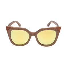 Tanya sunglasses in brown walnut wood