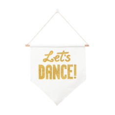 Let's dance canvas banner