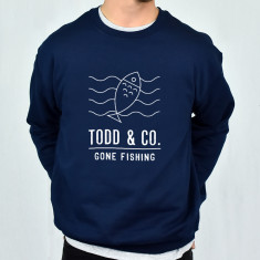 Gone Fishing Personalised Adventure Men's Sweatshirt