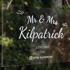 Classic Acrylic Welcome Wedding Sign