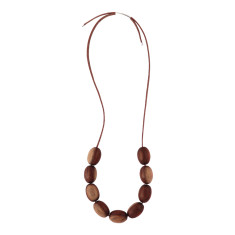 Oval bead necklace